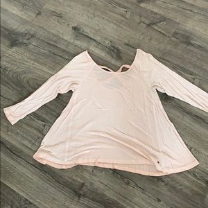 Soft and sexy strappy back long sleeve t